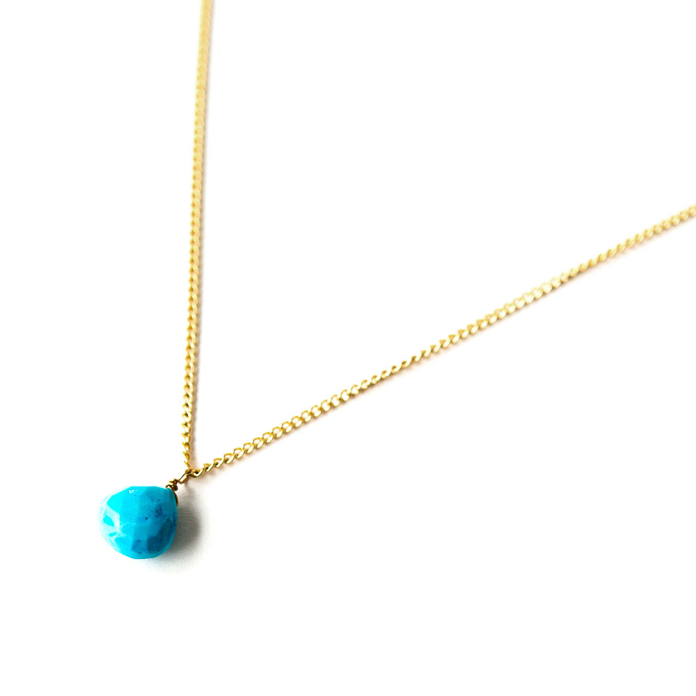 teora turquoise gold plated necklace tegen jewellery