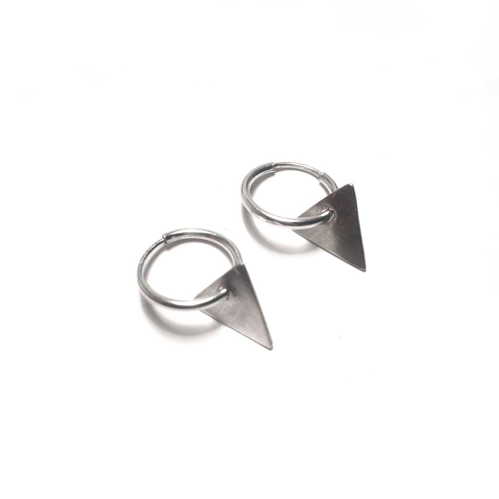 mini triangle dangle hoops tegen jewellery. Black Bedroom Furniture Sets. Home Design Ideas