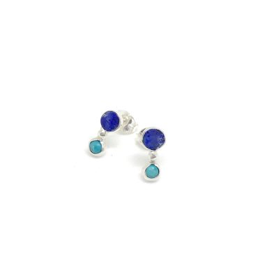One-Of-A-Kind-Opal-&-Turquoise-Drop-Studs-
